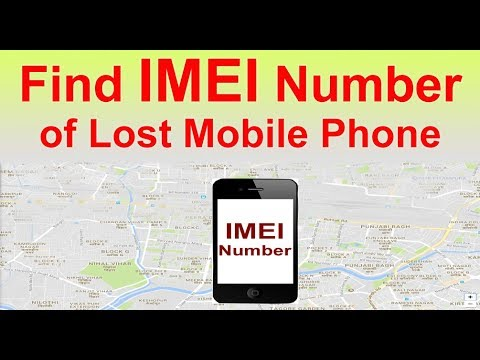 track IMEI number